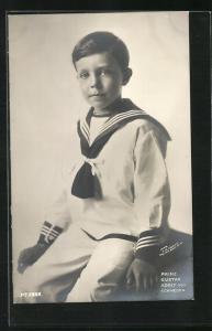 AK Prinz Gustav Adolf von Schweden in Matrosenkostüm