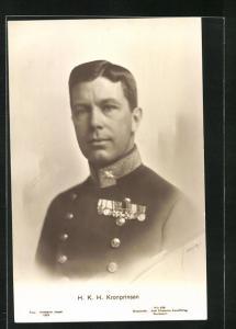 AK Kronprinsen, Portrait in Uniform