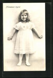 AK Prinzessin Ingrid von Schweden als Kind