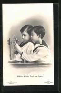 AK Prinsarne Gustaf Adolf och Sigvard