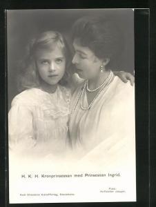 AK Kronprinsessan med Prinsessan Ingrid