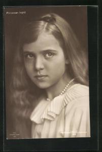 AK Prinsessan Ingrid, Kopfportrait