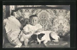 AK Prinz Lennart von Schweden mit Hund