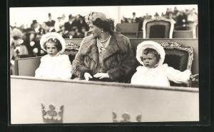 AK Prinzessin Sibylla mit Prinzessin Margaretha & Birgitta von Schweden