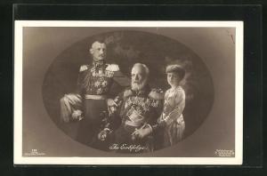 AK Die Regenten des Könighauses Bayern in Erbfolge, König Ludwig III., Kronprinz Rupprecht & Erbprinz Albrecht