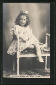 AK La Princesse Marie Louise d'Orleans als niedliches Mädchen mit Locken