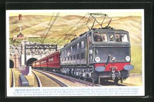 AK Englische Eisenbahn der British Railways verlässt den Woodhead Tunnel
