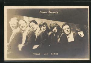 AK Varietékünstler Sydney Swain`s Famous Live Wires, Gruppenbild der Mitglieder