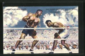 AK Toledo, OH., Boxer Jack Dempsey knocks out Jess Willard on July 4, 1919, and becomes Champion of the World