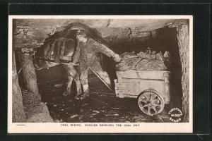 AK Coal Mining, Haulier bringing the Coal out, Arbeiter im Kohlebergwerk