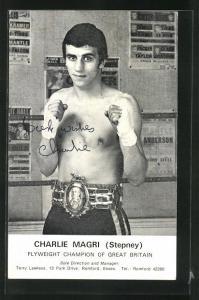 AK Boxer Charlie Magri Stepney, Flyweight Champion of Great Britain