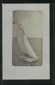 AK Segelboot Lilia auf hoher See