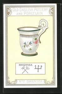 AK Swansea, No 7, Old English Pottery and Porcelain, Teetasse
