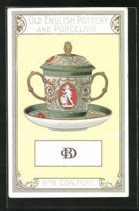 AK Coalport, No 9, Old English Pottery and Porcelain, Teetasse