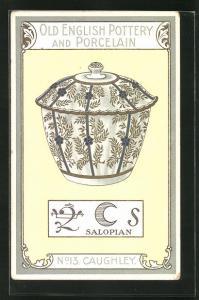 AK Caughley, No 13, Old English Pottery and Porcelain, Salopian, Zuckerdose