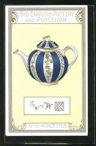AK Worcester, No 8, Old English Pottery and Porcelain, Teekanne