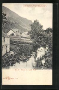 AK On the Road to Loch Ard, Halt gegen das Licht