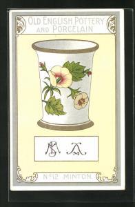 AK Minton, No 12, Old English Pottery and Porcelain, Vase