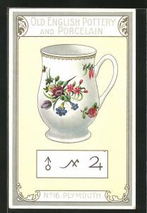 AK Plymouth, No 16, Old English Pottery and Porcelain, Teetasse
