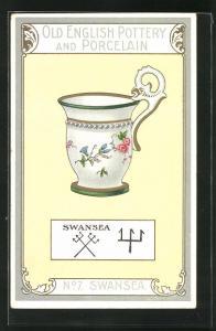 AK Swansea, No 17, Old English Pottery and Porcelain, Teetasse