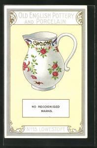 AK Lowestoft, No 15, Old English Pottery and Porcelain, Kännchen