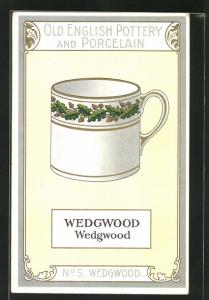 AK Wedgwood, No 5, Old English Pottery and Porcelain, Teetasse