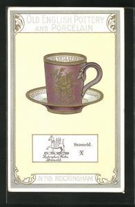 AK Rockingham, No 18, Old English Pottery and Porcelain, Brameld, Teetasse