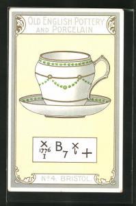 AK Bristol, No 4, Old English Pottery and Porcelain, Teetasse