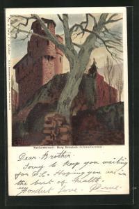 Künstler-AK Carl Biese: Neckarsteinach, Burg Schadeck
