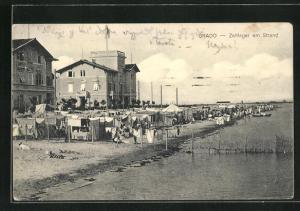 AK Grado, Zeltlager am Strand
