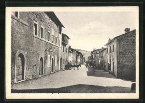 AK Oriolo Romano, Borgo Garibaldi, Strassenpartie