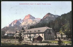 AK Schluderbach, Teilansicht gegen Croda rossa