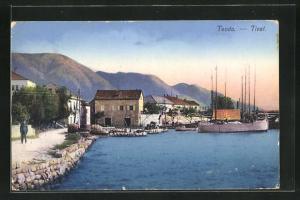 AK Tivat, Teilansicht mit Boot