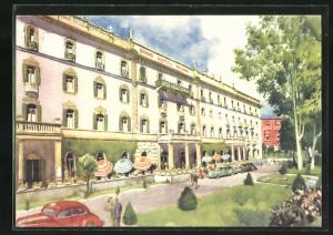 Künstler-AK Salsomaggiore, Grand Hotel Milano