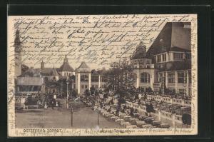 AK Zoppot / Sopot, Kurhaus Terrasse