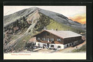 AK Wallberg-Unterkunftshaus mit Bergpanorama