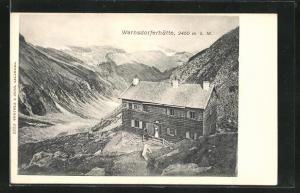 AK Warnsdorferhütte aus der Vogelschau