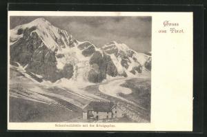 AK Schaubachhütte mit der Königsspitze