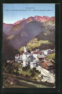 AK Buchenstein / Dolomiten, Teilansicht gegen die Marmolata