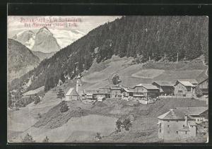 AK Andraz in Buchenstein, Ortsansicht mit Marmolata