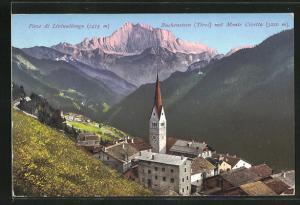 AK Buchenstein, Ortsansicht mit Monte Civetta