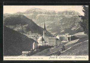 AK Buchenstein, Ortsansicht mit Bergen