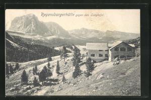 AK Regensburgerhütte, Blick gegen den Langkofel