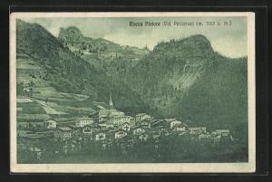 AK Rocca Pietore, Val Pettorina, Totalansicht mit Häusern, Kirche und Berge