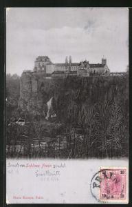 AK Frain a. Thaya, Blick zum Schloss