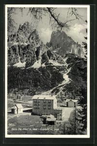 AK Passo tre Croci, Ortsansicht aus der Vogelschau