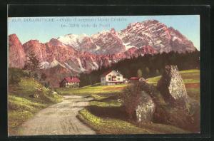 AK Valle d'Ampezzo, Monte Cristallo visto da Pocol