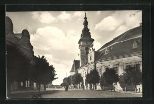 AK Moravske Budejovice, Strassenpartie im Ort