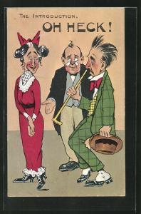 AK frauenfeindlicher Humor, Mann ist schockiert beim Anblick von älterer Frau, The Introduction, Oh Heck