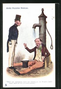 AK Early Victorian Humour, Don`t you hinterfere..., Trinkerhumor